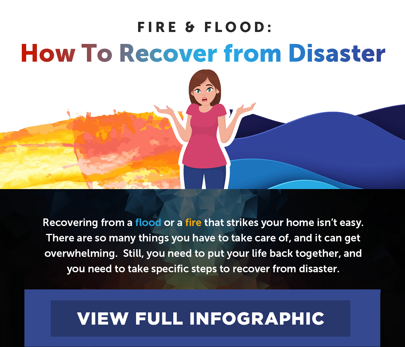 How to Recover from Flood Damage Infographic Thumbnail